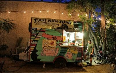 places to eat in austin east side king's trailer truck