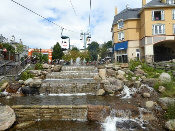 mont tremblant, canada is one of the vacation spots for triathlon training and family fun