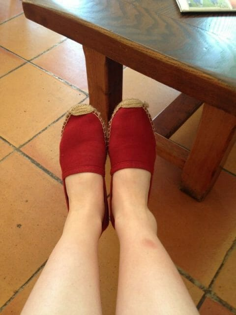 Cute new 6E shoes and a very ugly ankle...
