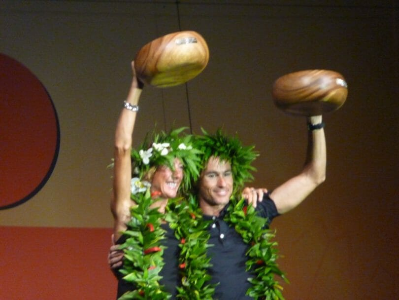 Your 2011 World Champions, Chrissy Wellington and Craig Alexander.