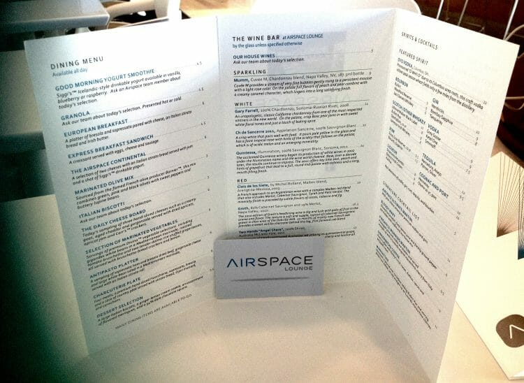 is the food good at an airspace lounge