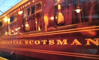 the royal scotsman getting ready to depart