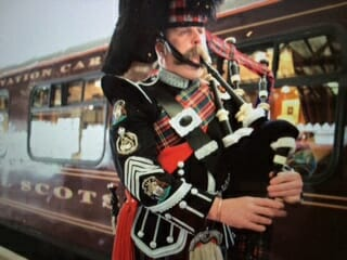 the ceremony preceding departure of the royal scotsman