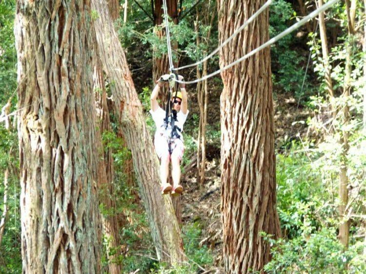 which type of triathlete wife goes ziplining