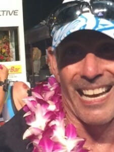 kona bound triwife gets a big smile at the finish line
