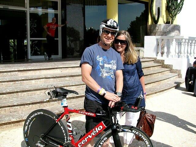 David and Dana at Ironman 70.3 Puerto Rico