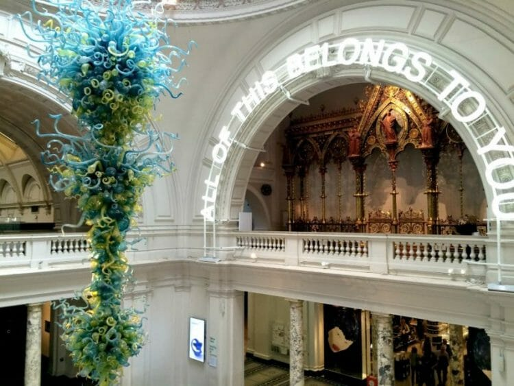 victoria & albert museum is a really cool thing to love about London