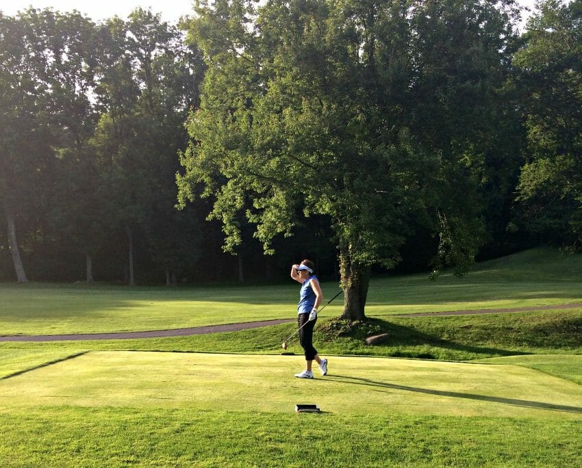golfing while your triathlete trains