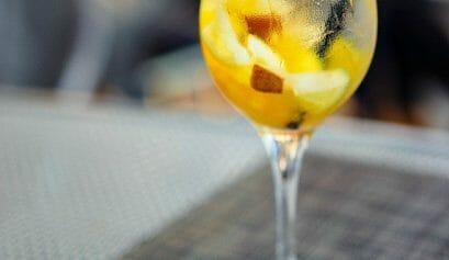 what drinks to serve at a super bowl party like this hard apple cider sangria recipe
