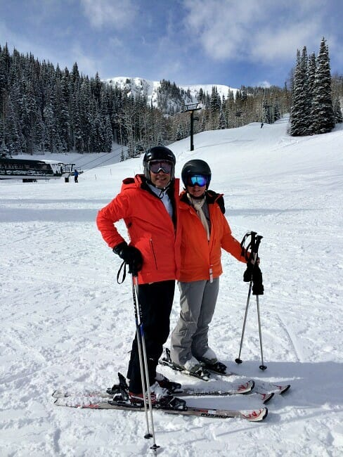 is skiing a good way to decompress with a triathlete