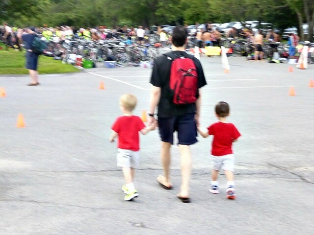 traveling to triathlons with kids in tow