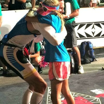 being a triathlete with the support of your kids