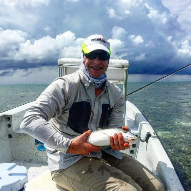 fly fishing at belcampo in belize during triathlon off season