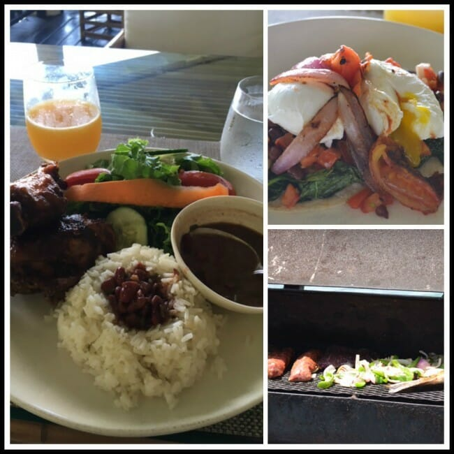 the amazing food at copal tree lodge belize