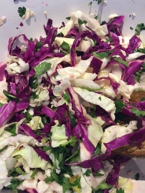 how to make slaw as a side for chapulas