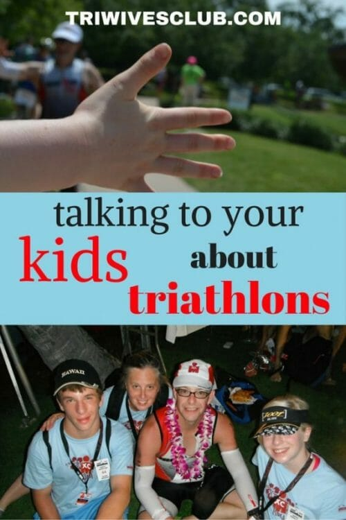 how to talk to your kids about triathlons