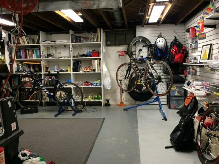 how to survive life with a triathlete with all the gear