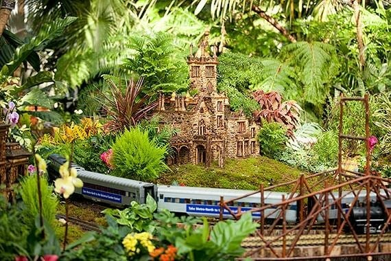 what to do in NY during the holiday nybg holiday train show