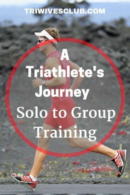 what are the advantages to a triathllete who trains solo finds a group