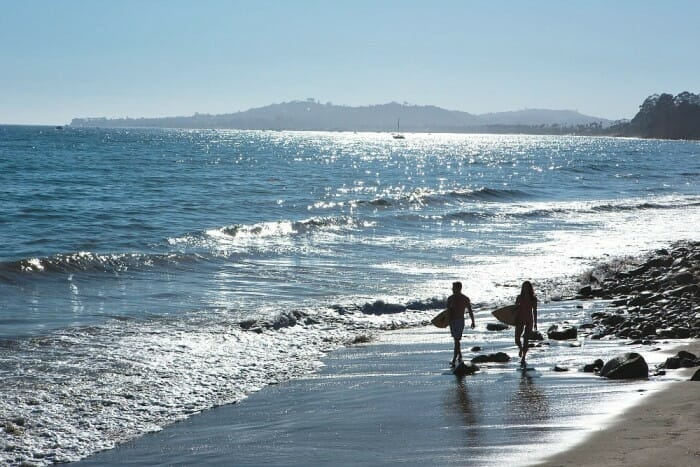is taking a surfing lesson one of the coolest santa barbara adventures and activities