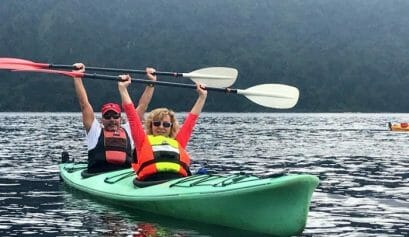 is kayaking in south island new zealand sites a good activity for triathletes