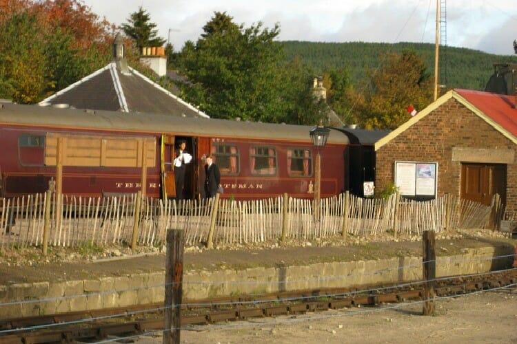 the royal scotsman at a station