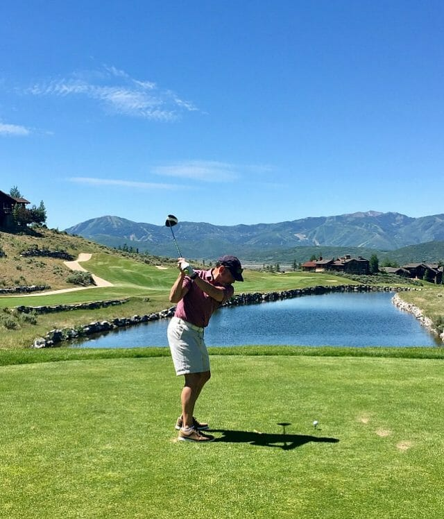 is golfing one of the summer activities in deer valley to try