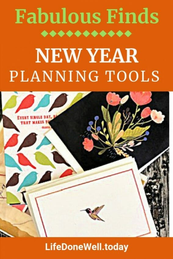 are notecards one of the planning tools for the new year