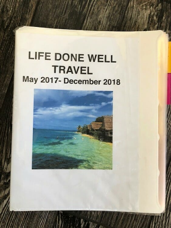 a travel folder is one of the planning tools for the new year