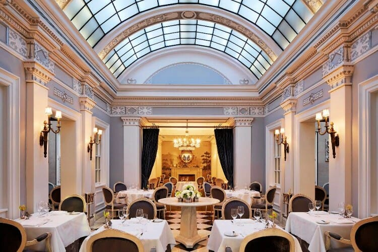 dining at plume at the jefferson hotel in washington, dc