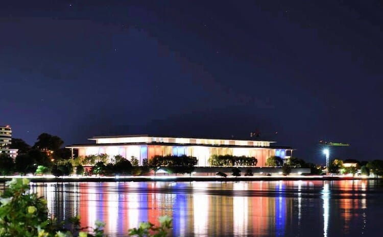 visiting the kennedy center in washington, dc