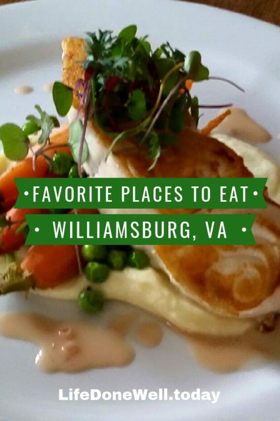 places to eat in Williamsburg, Virginia