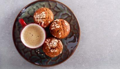 chia oatmeal cups muffins
