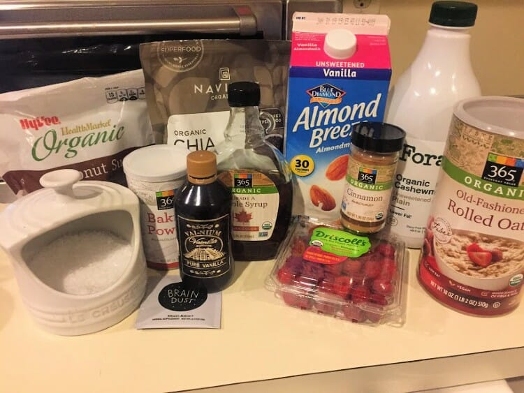 chia oatmeal cups ingredients