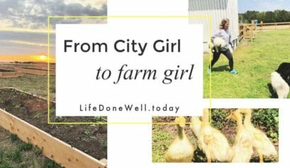 from city girl to farm girl at record speed