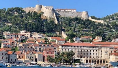 view of hvar on a vacation along the Croatia coast