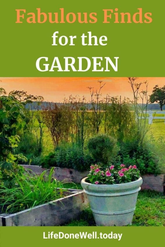 what are some fabulous finds for the garden