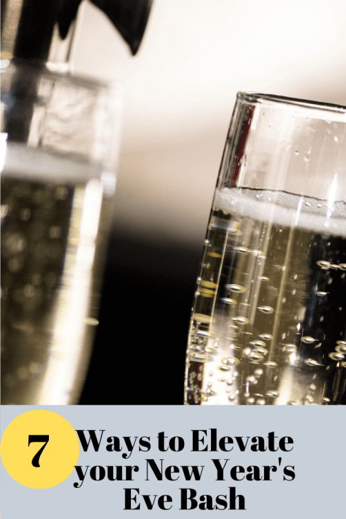 what are some tips to add sparkle to a new year's eve party