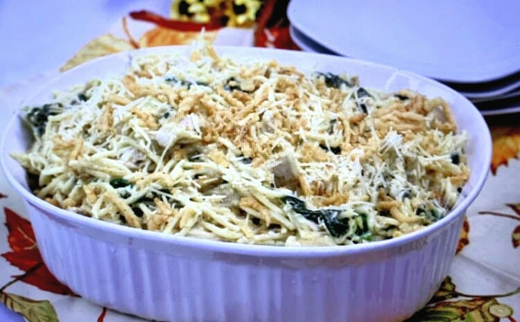 easy comfort food recipes like a chicken casserole