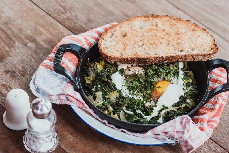 non-boring egg recipes in a skillet