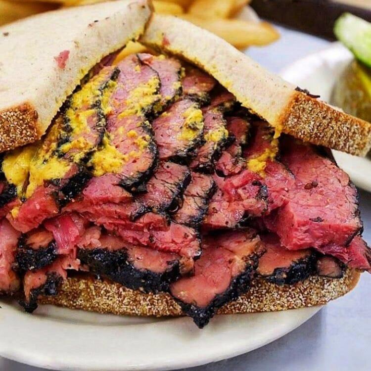 Katz's Deli pastrami sandwich