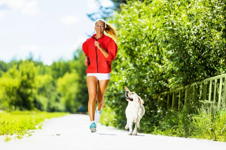 self-care actions you can do today like running with a dog
