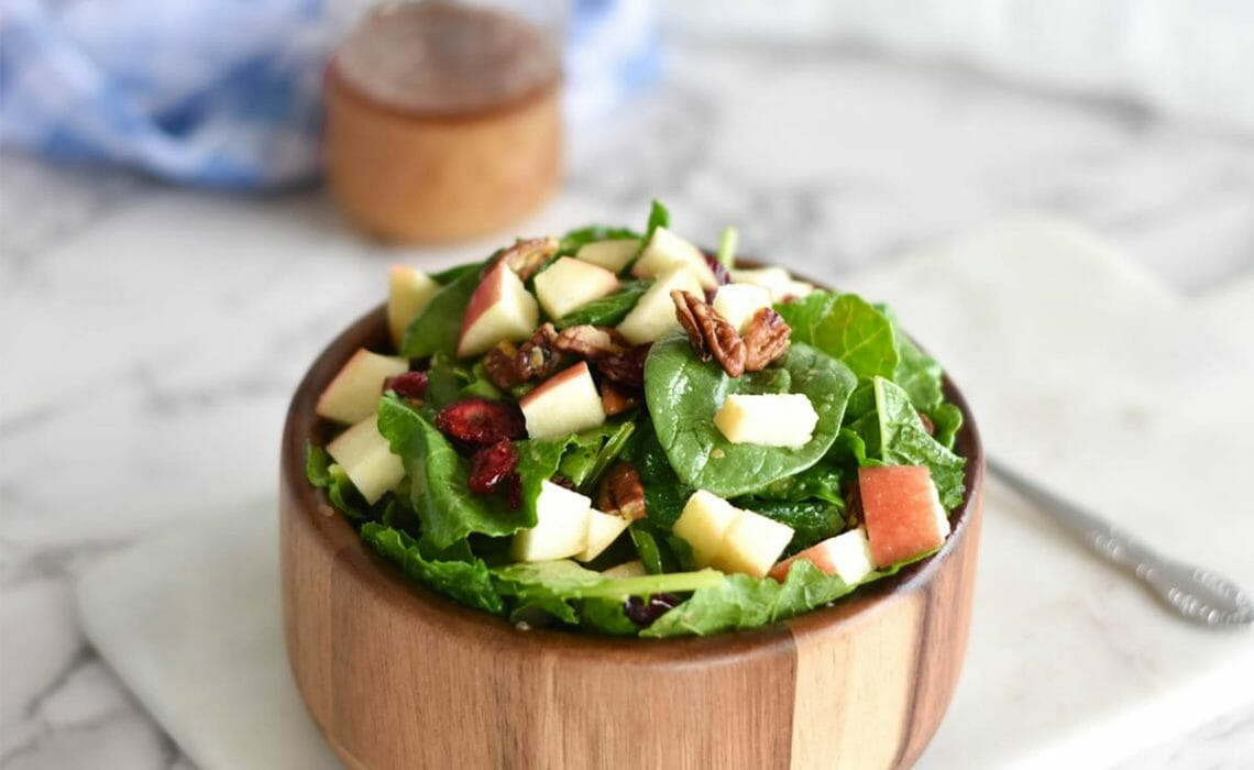 apple pecan salad is a fall side dish recipes