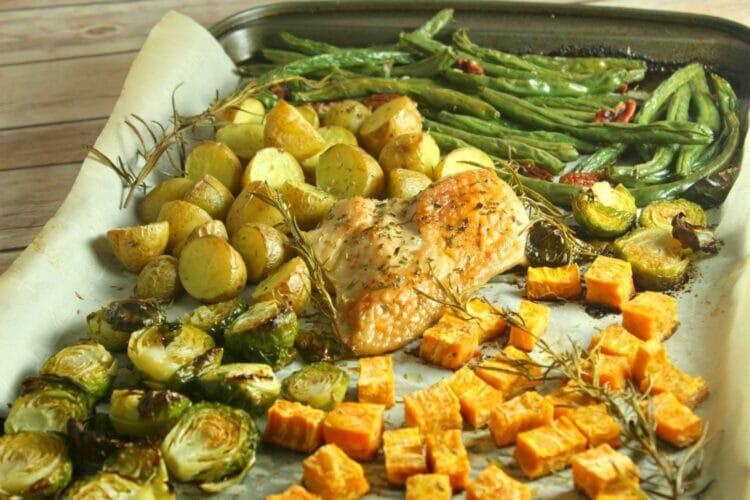 sheet pan recipes like this turkey dinner
