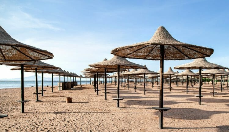 a deserted beach during a covid getaway