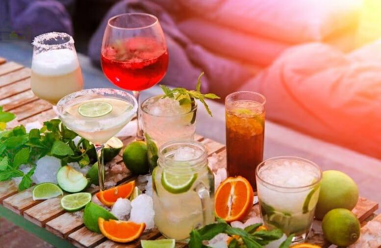 spring cocktails array