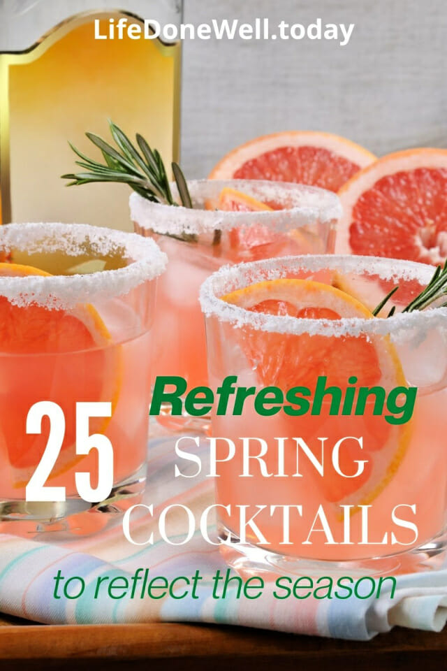 spring cocktails to reflect the season