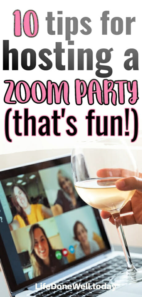 zoom party pin