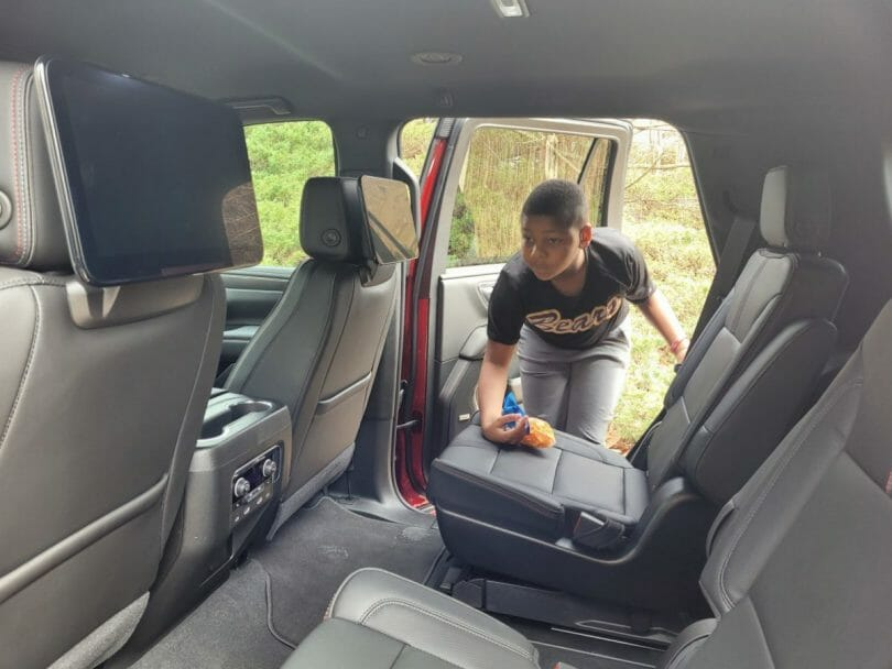 The 2021 Chevy Tahoe is super easy to get in and out!